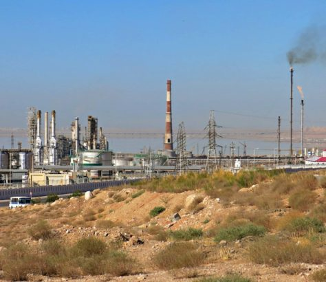 Turkménistan, Turkmenbachi, Port, Raffinerie, Photo du jour