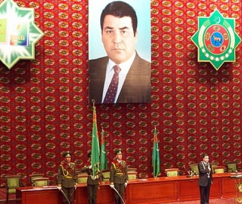 portrait Gourbangouly Berdimouhamedov Turkménistan