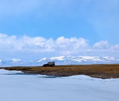 Photo du lac gelé Son Kol