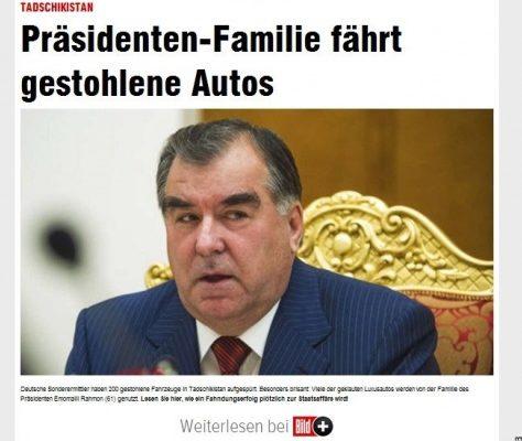 Titre du journal allemand Bild
