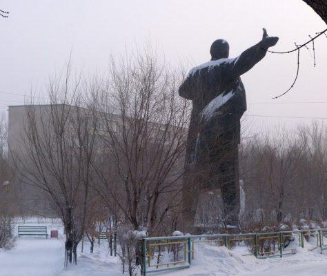 Une statue de Lenine au Kazakhstan