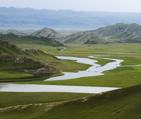 Immense pâturage de la préfecture autonome kazakhe d Ili