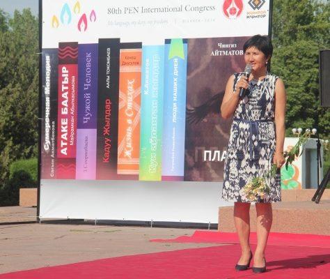 Dalmira Tilepbergenowa directrice du PEN Club Kirghizistan